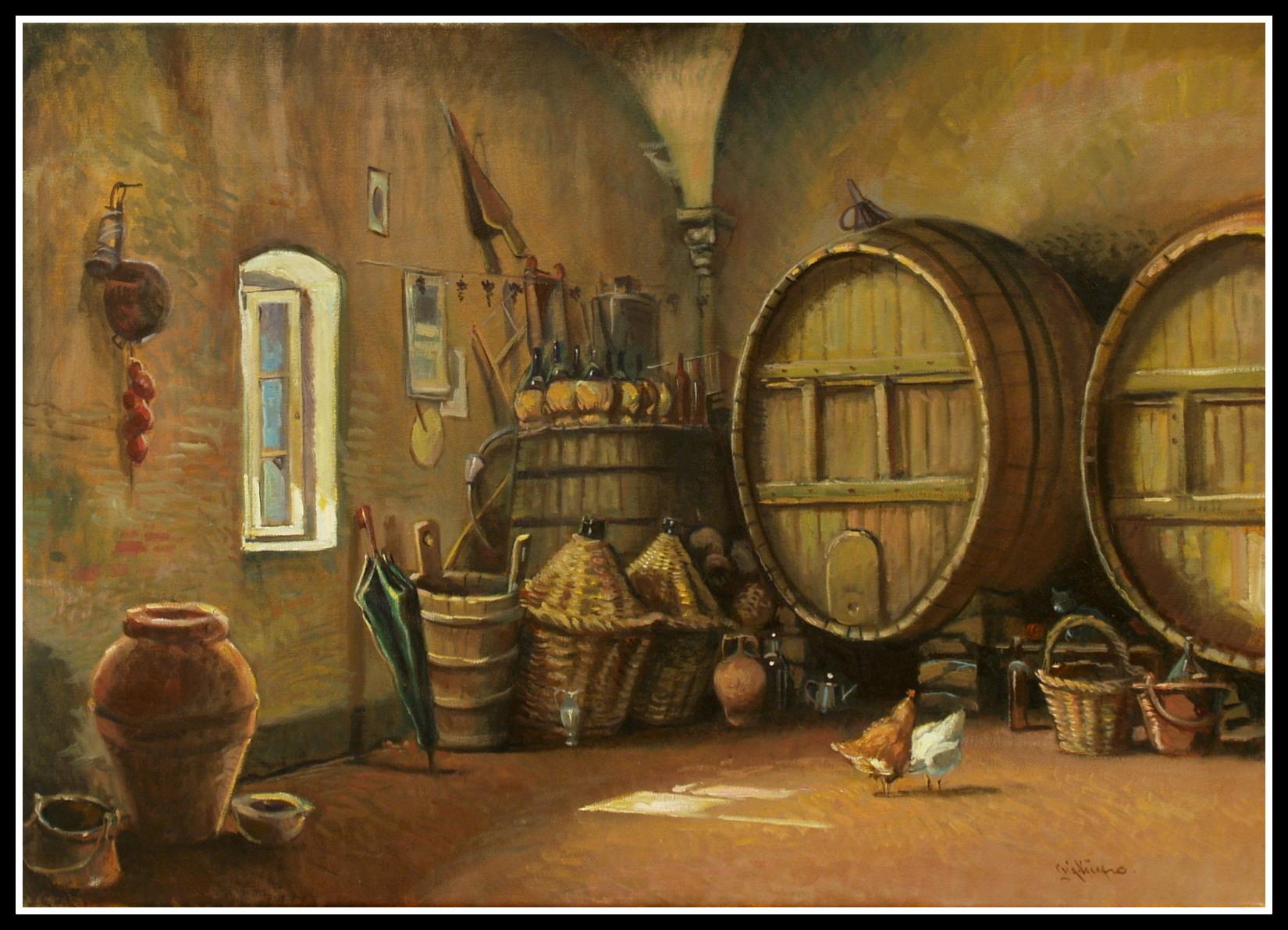La cantina del vino vaccaro giacomo 1953 interno for Migliori disegni di cantina