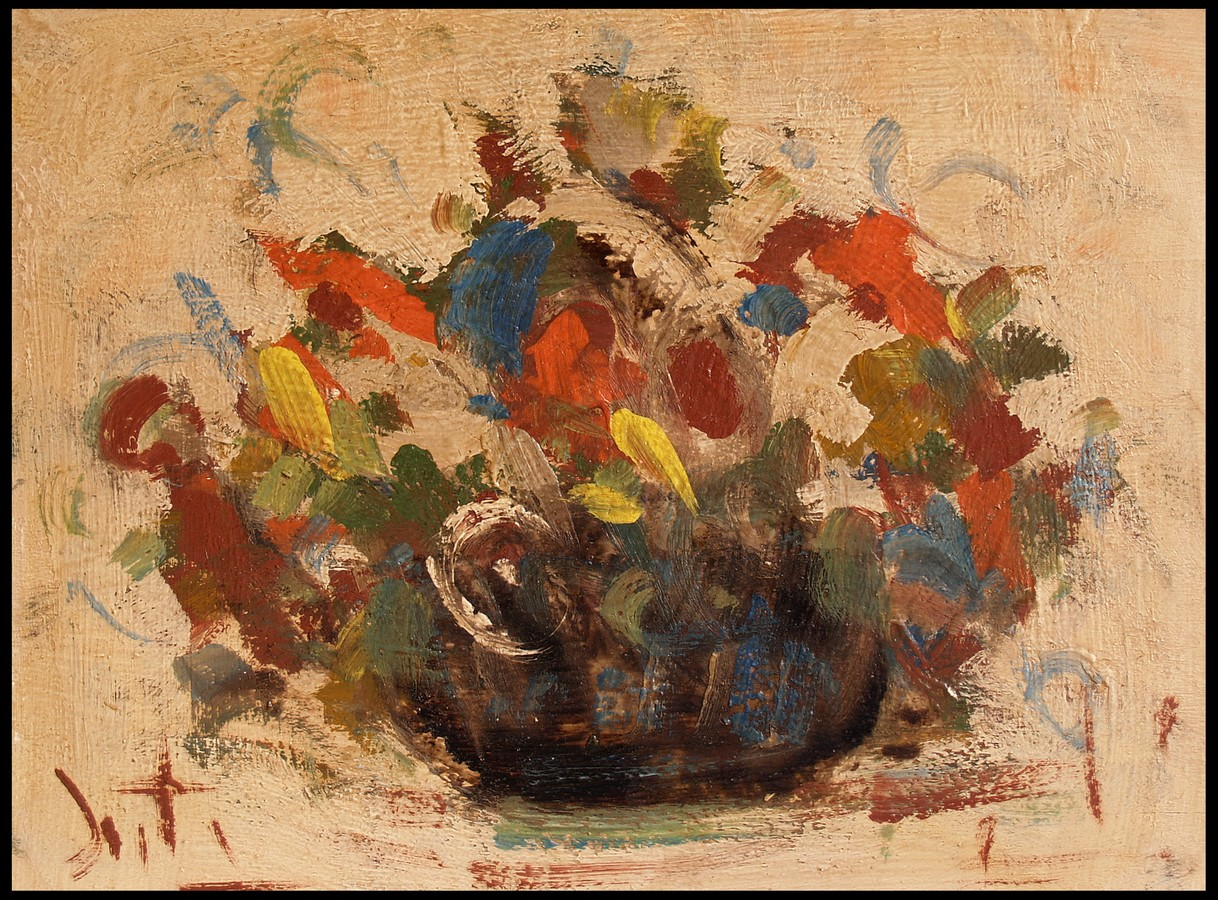 Vaso di fiori danti alvaro natura morta dipinti 1900 for Vasi di fiori dipinti